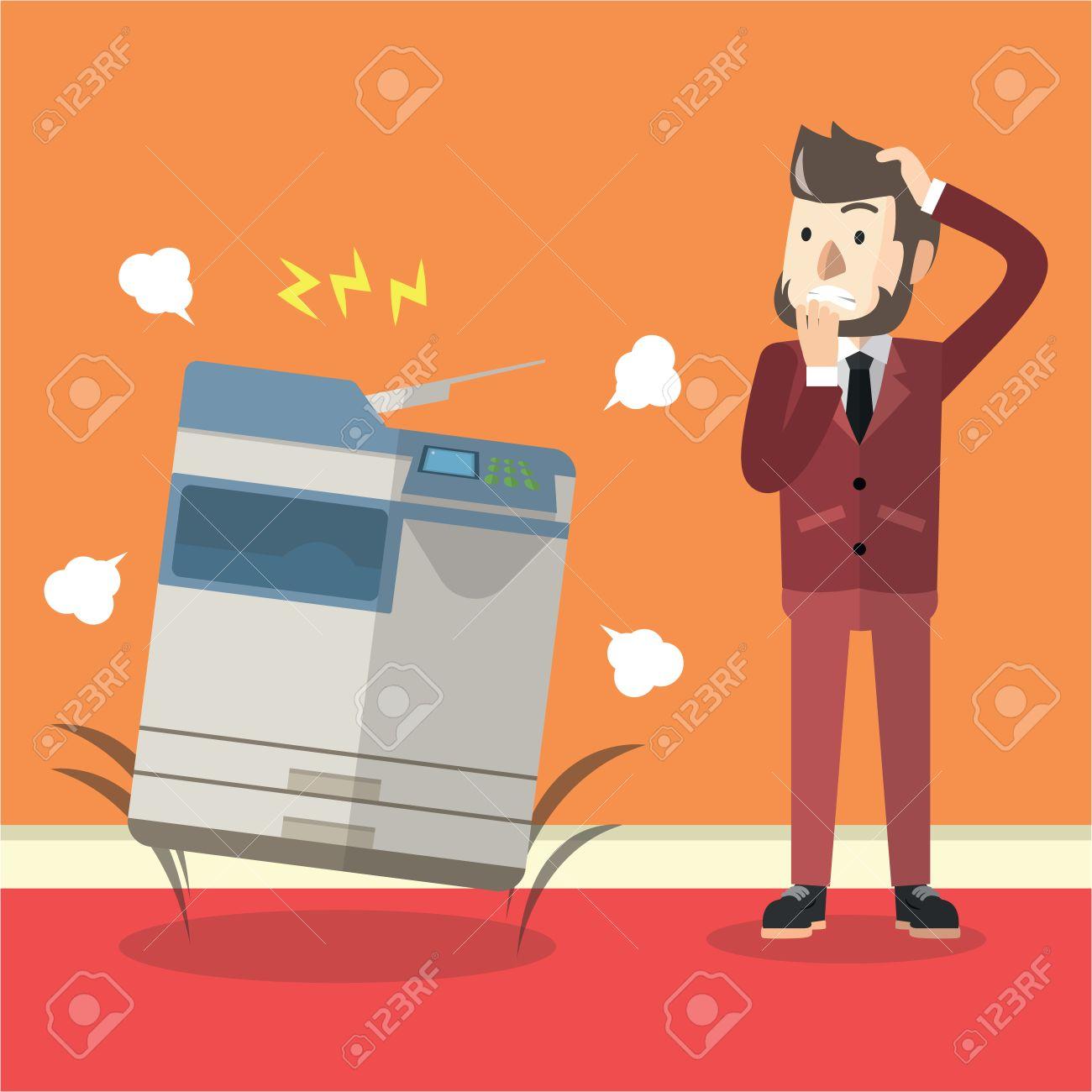 Bad photocopier machine - 56559930