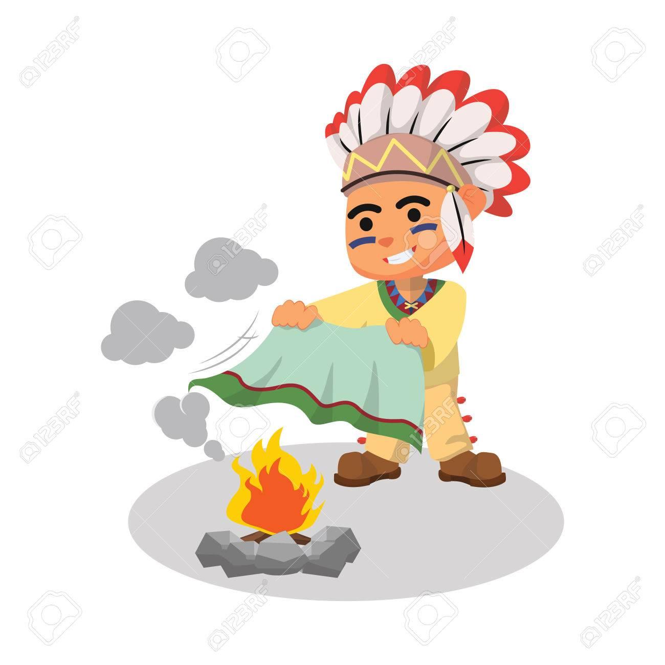 indian boy playing smoke - 55897777