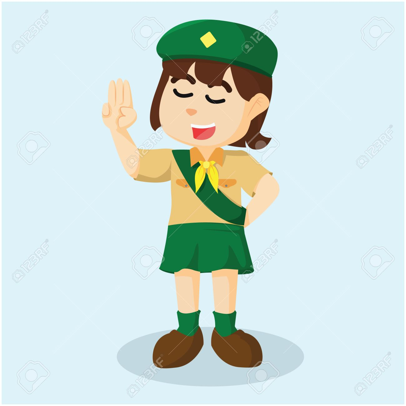 Girl Scout Salute Illustration Royalty Free Cliparts Vectors And