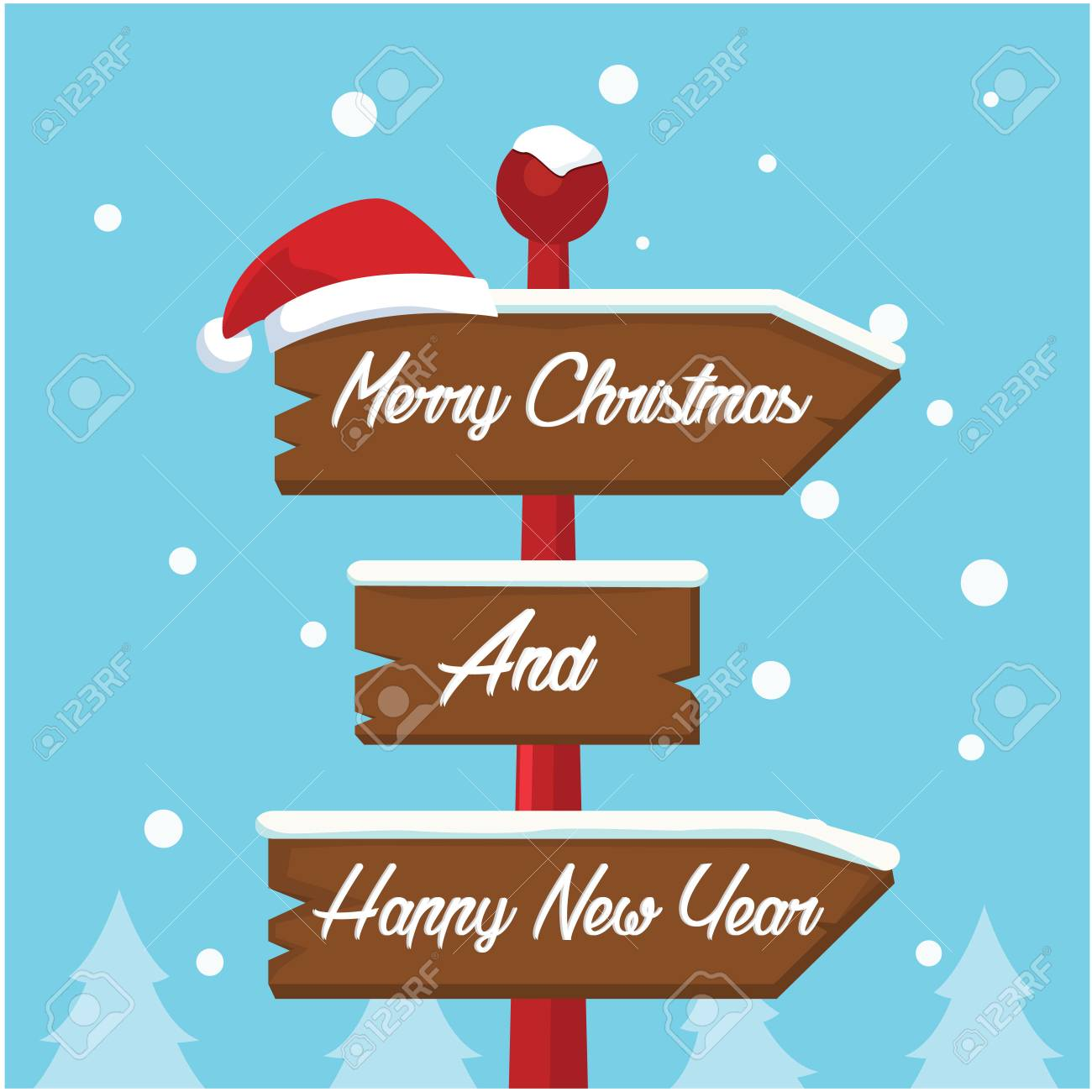 merry christmas sign illustration design royalty free cliparts