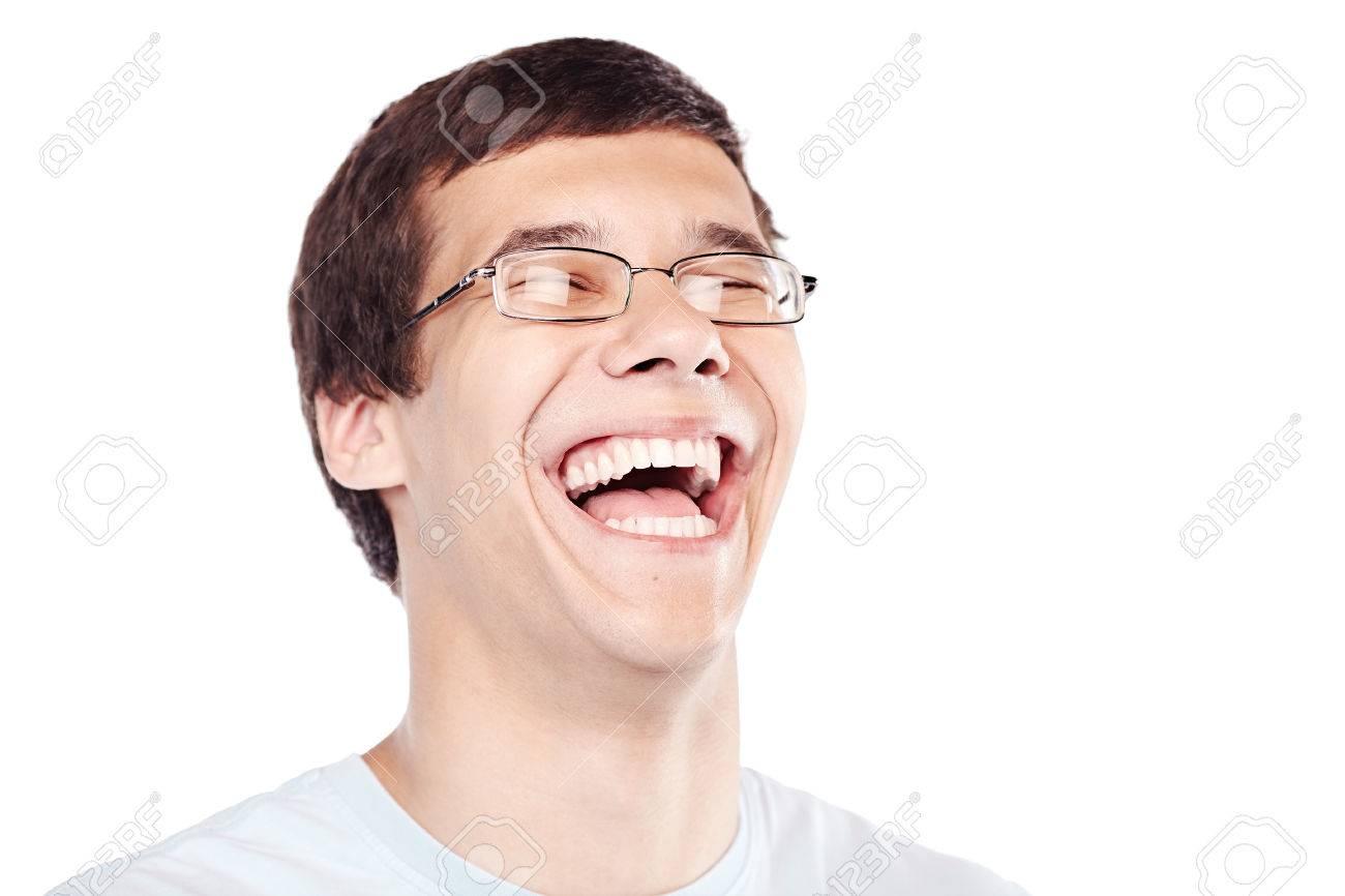 Gesicht Nahaufnahme Von Jungen Hispanischen Mann Mit Brille Und ...