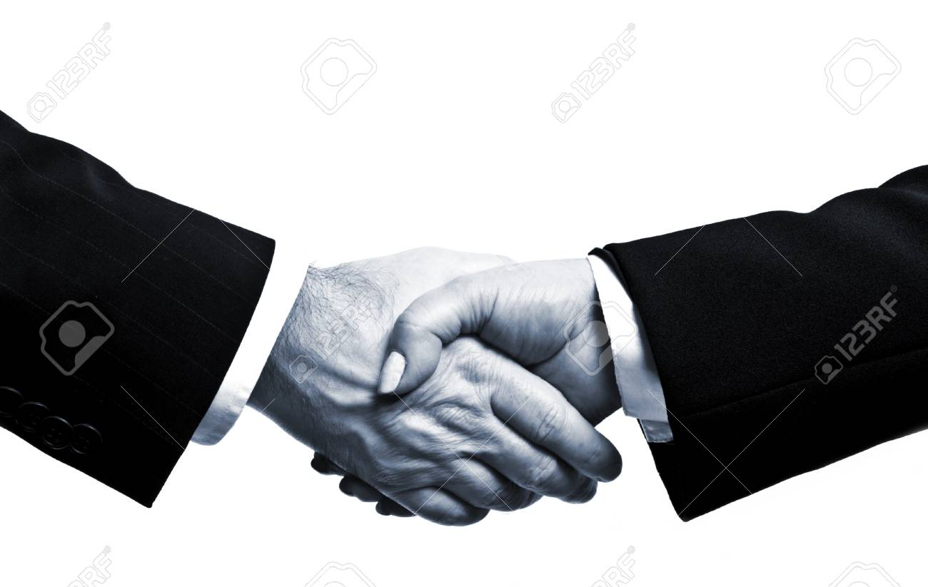 Business people shake their hands Stock Photo - 8767023