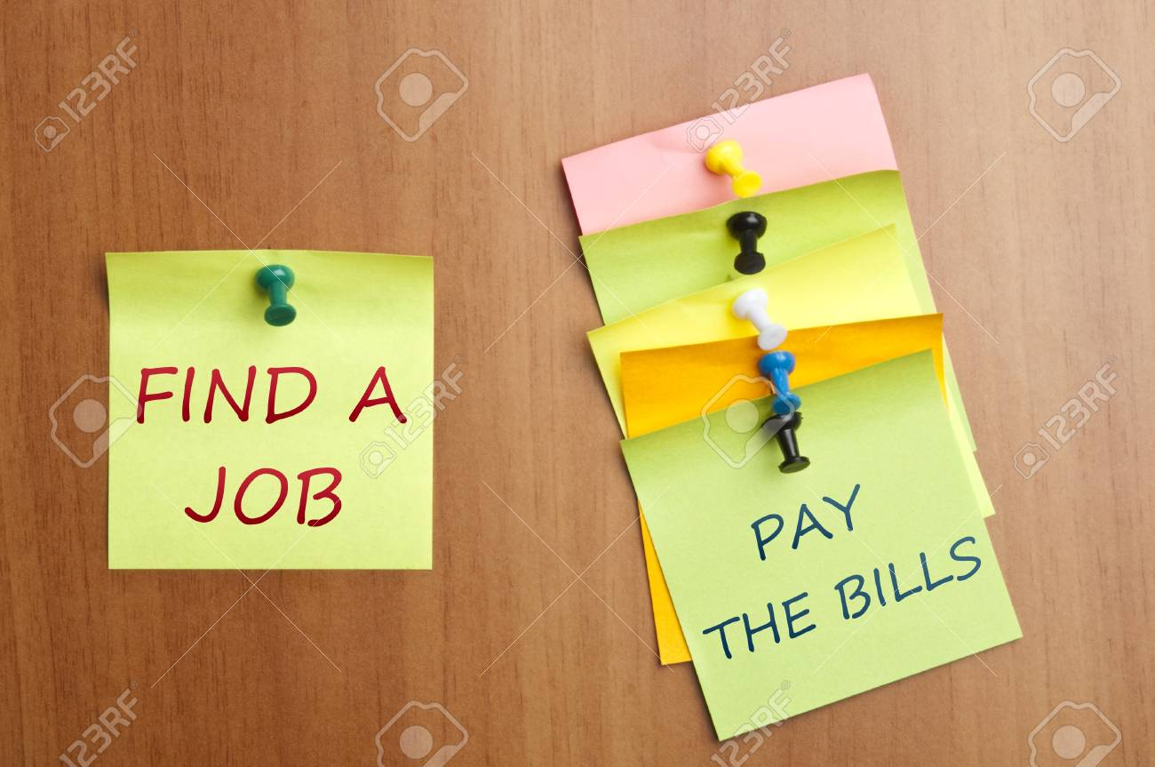 Find a job post it Stock Photo - 8925325