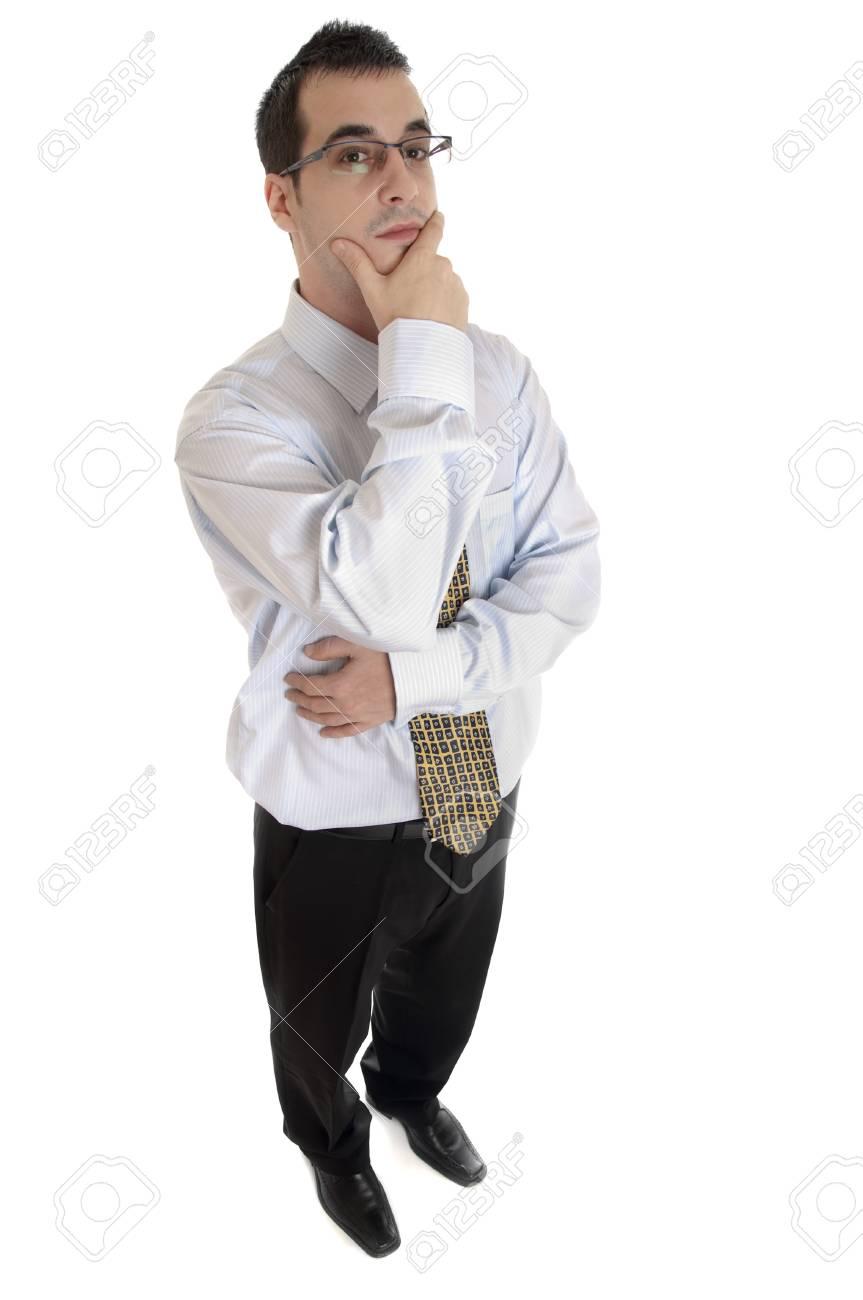Isolated business man on white background Stock Photo - 9139497