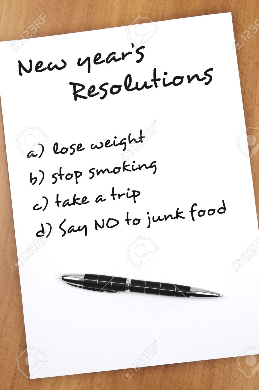 New Year Resolution Say No To Junk Food As Most Important Stock ...