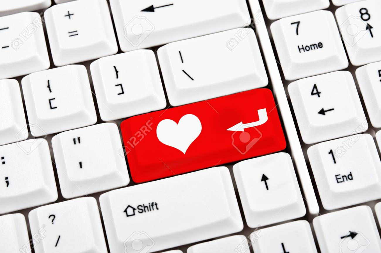 Heart in place of enter key Stock Photo - 9346275