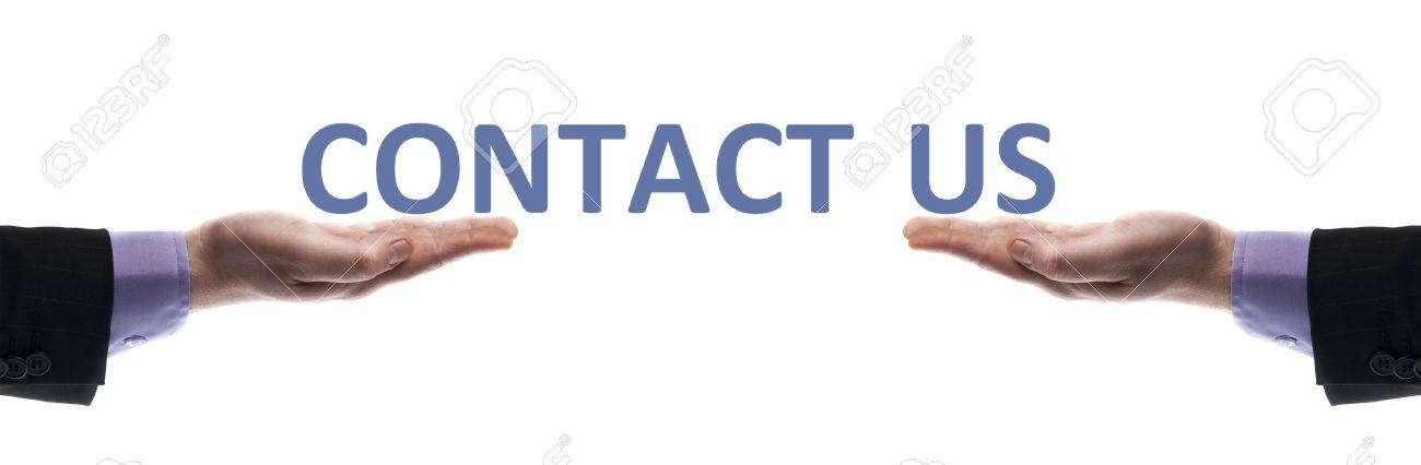 Contact us message in male hands Stock Photo - 9627198