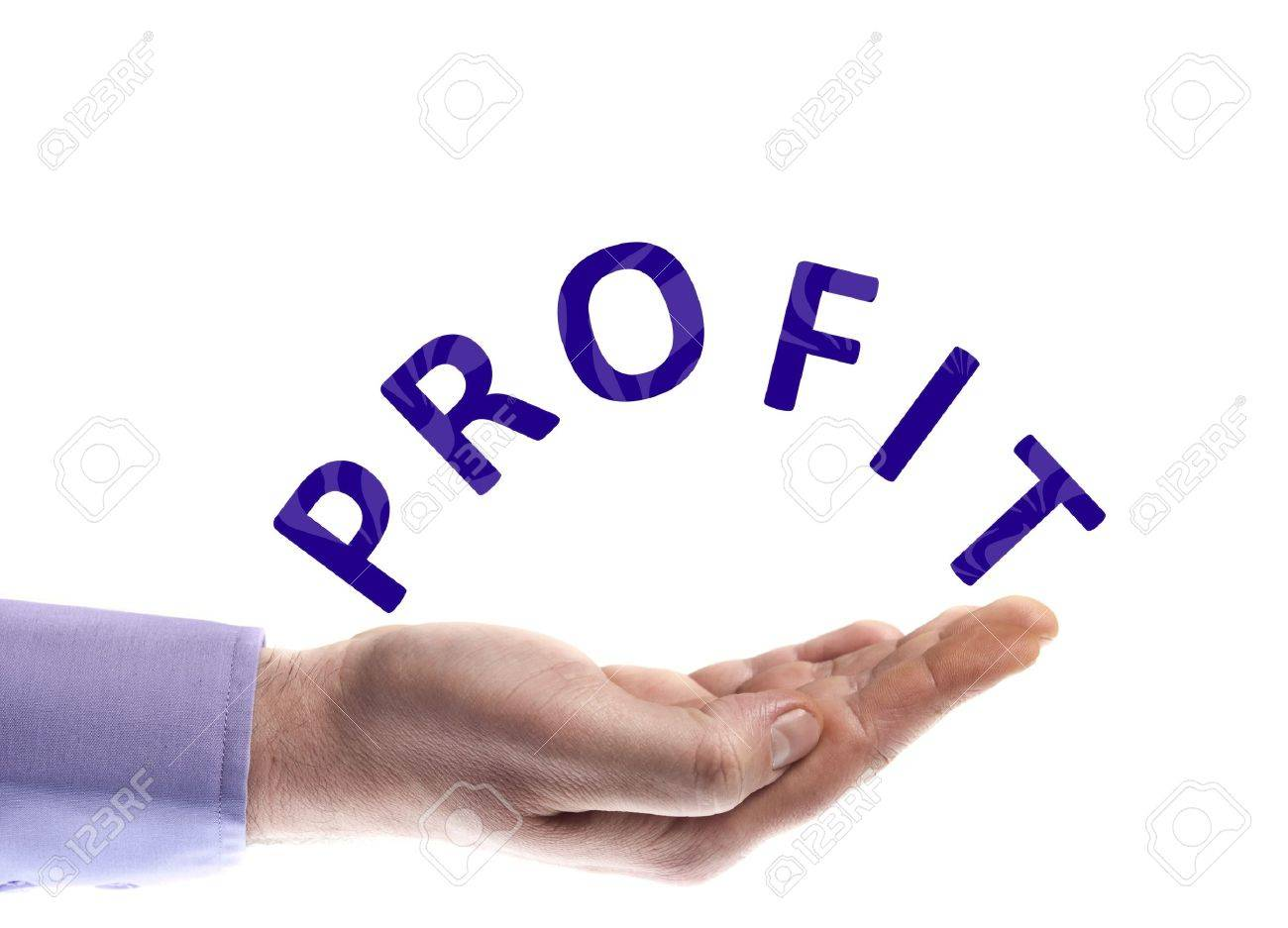 Profit Word In Male Hand Stock Photo, Picture And Royalty Free ...