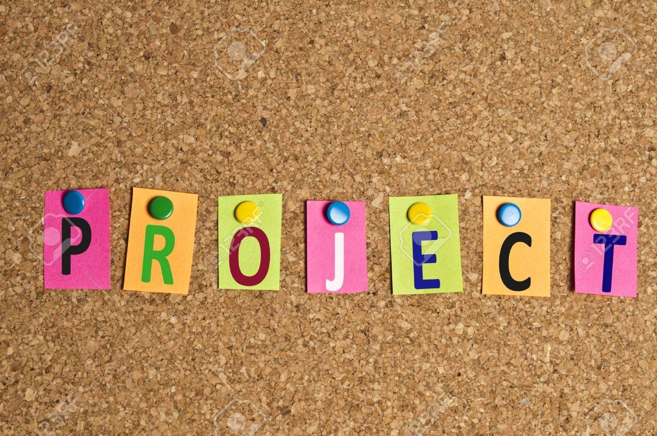 Project Word Made Of Post It Stock Photo, Picture And Royalty Free ...