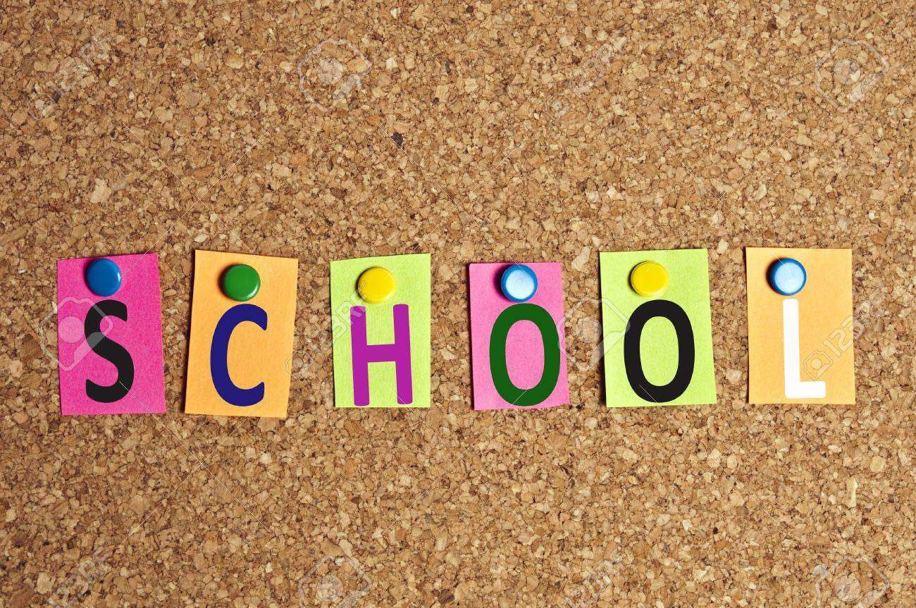 School Word Made Of Post It Stock Photo, Picture And Royalty Free ...