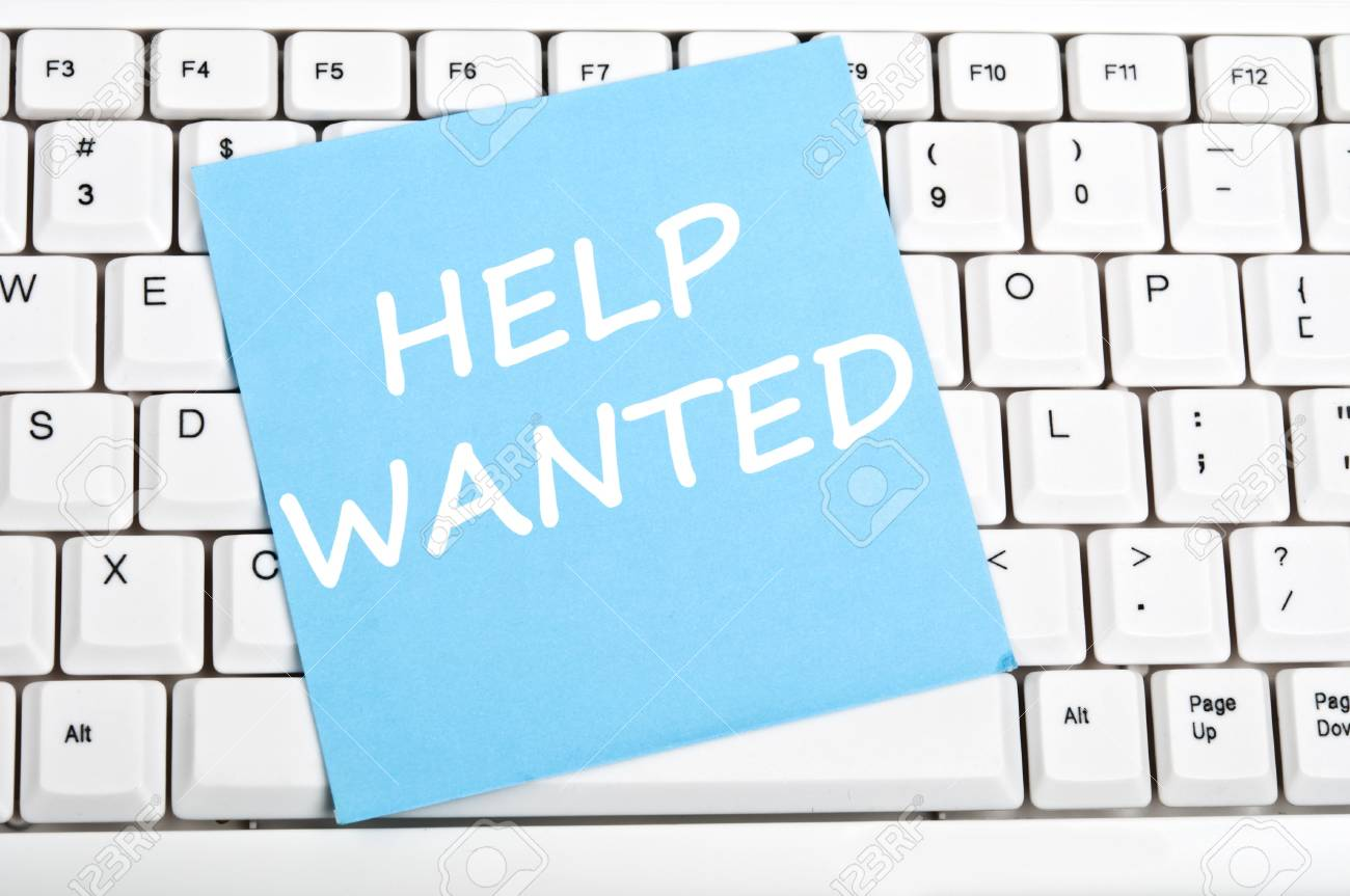 Help wanted mesage on keyboard Stock Photo - 9628412