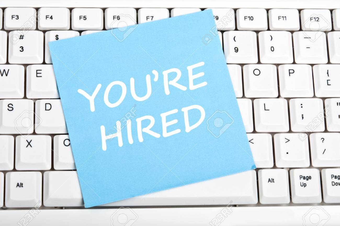 You're hired mesage on keyboard - 9628409