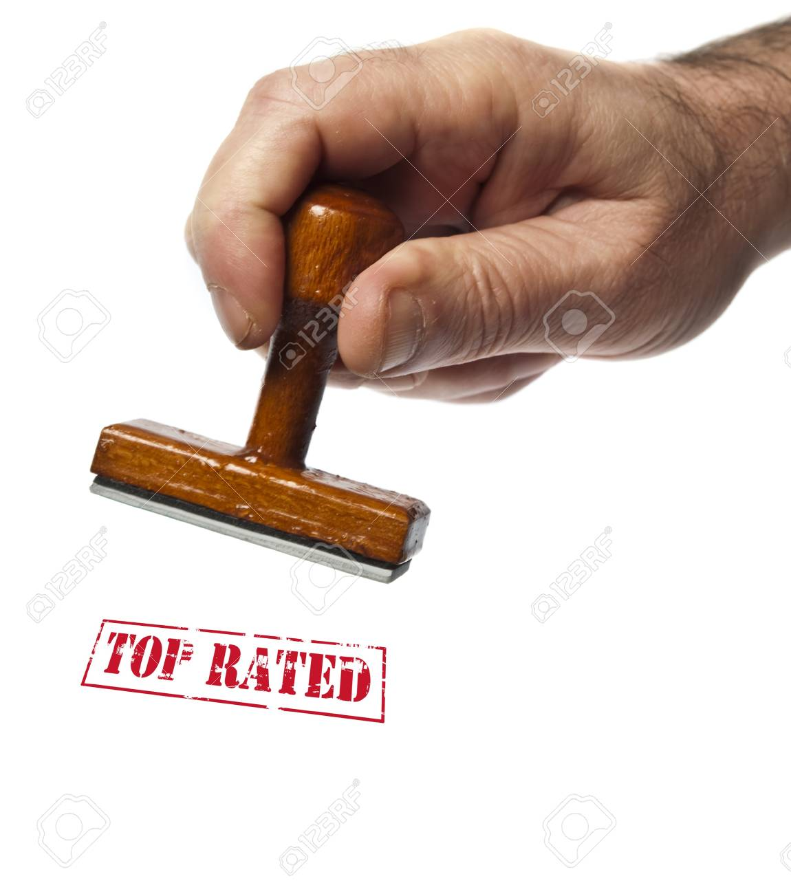 Top rated stamp on white background Stock Photo - 9627820