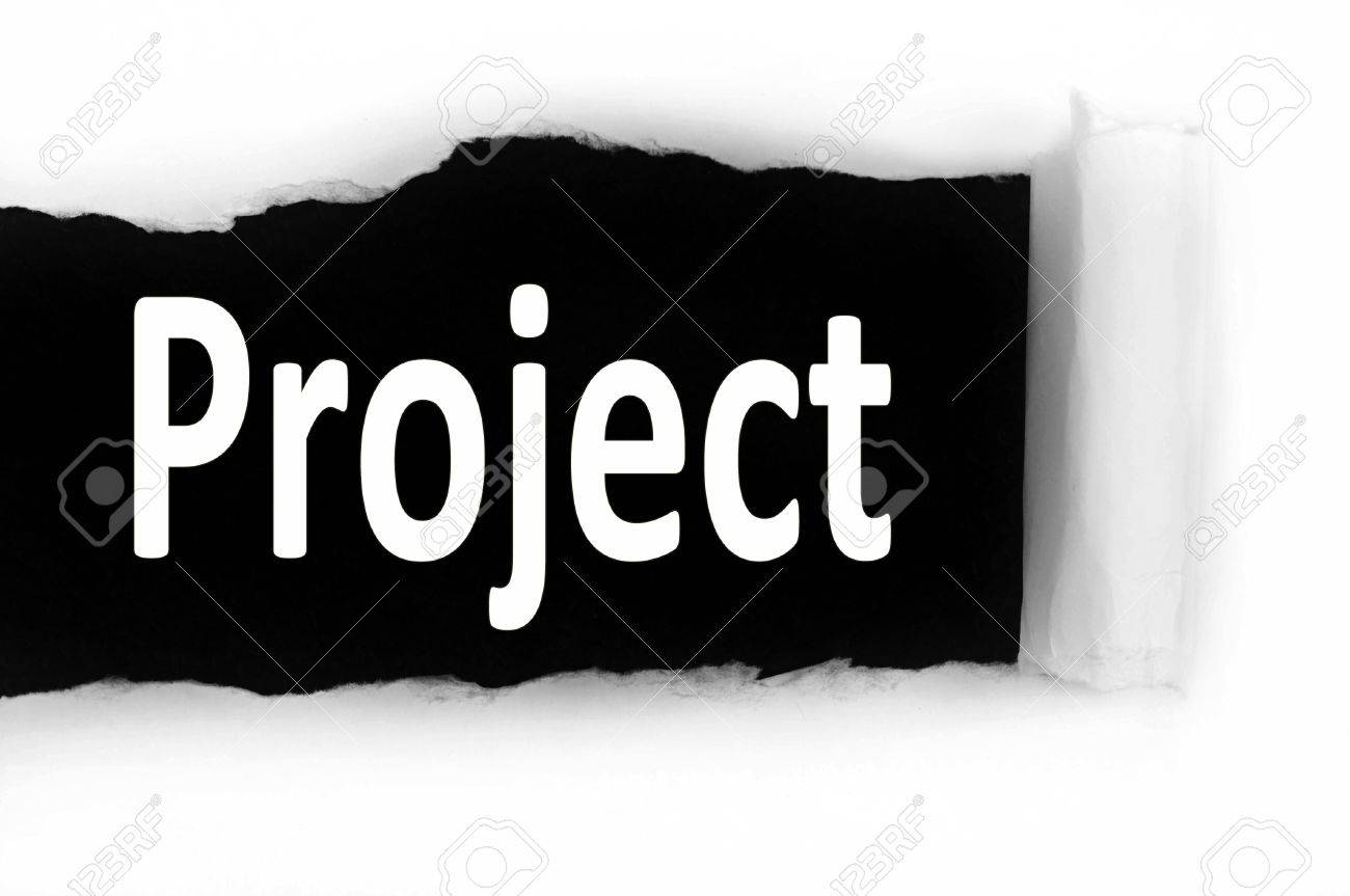Project Word Discovered Under Paper Stock Photo, Picture And ...