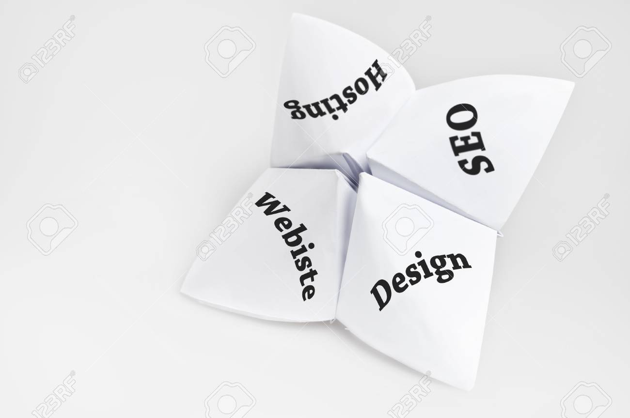 Online business needs on fortune teller paper
