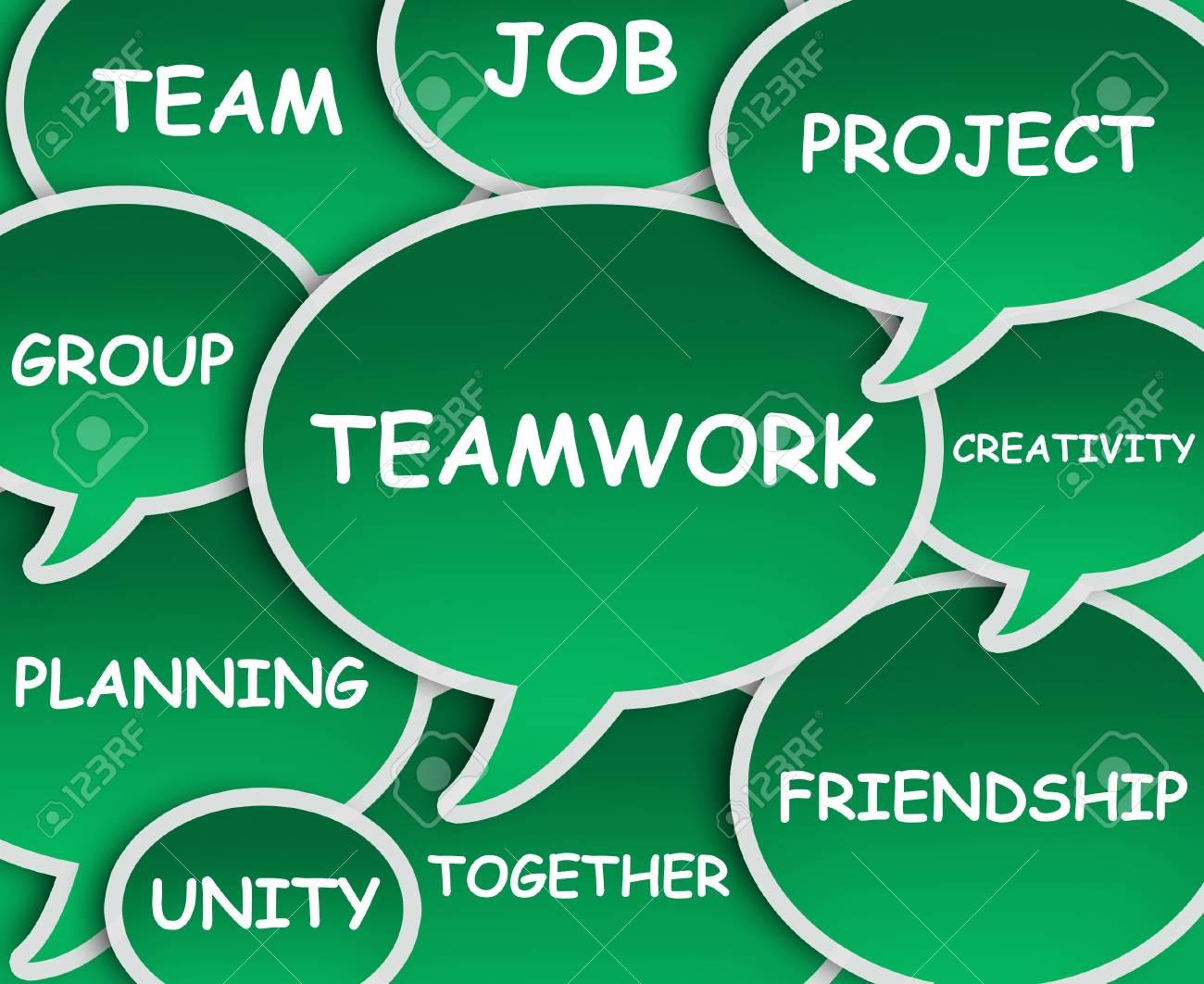 Illustration of clouds about Teamwork Stock Illustration - 10063677