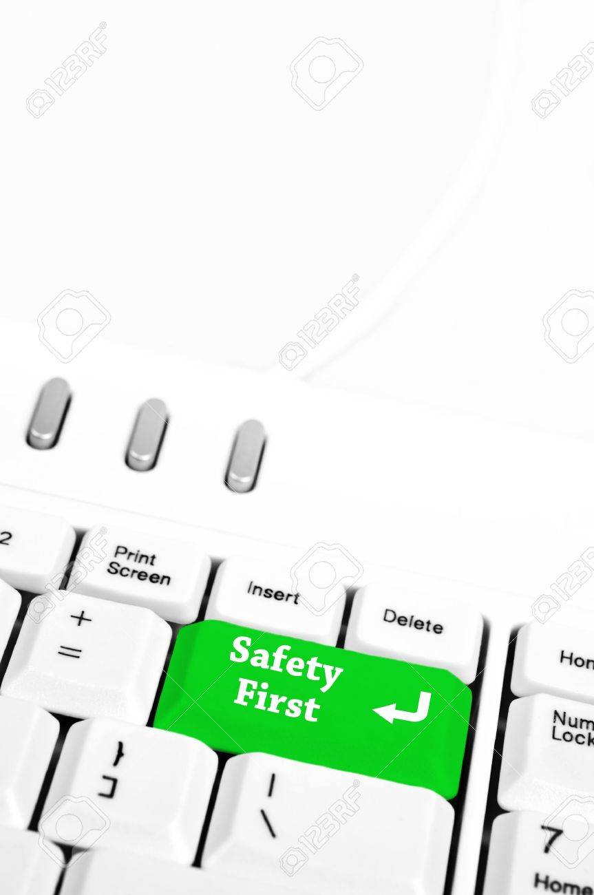 Safety first in place of enter key Stock Photo - 10080975