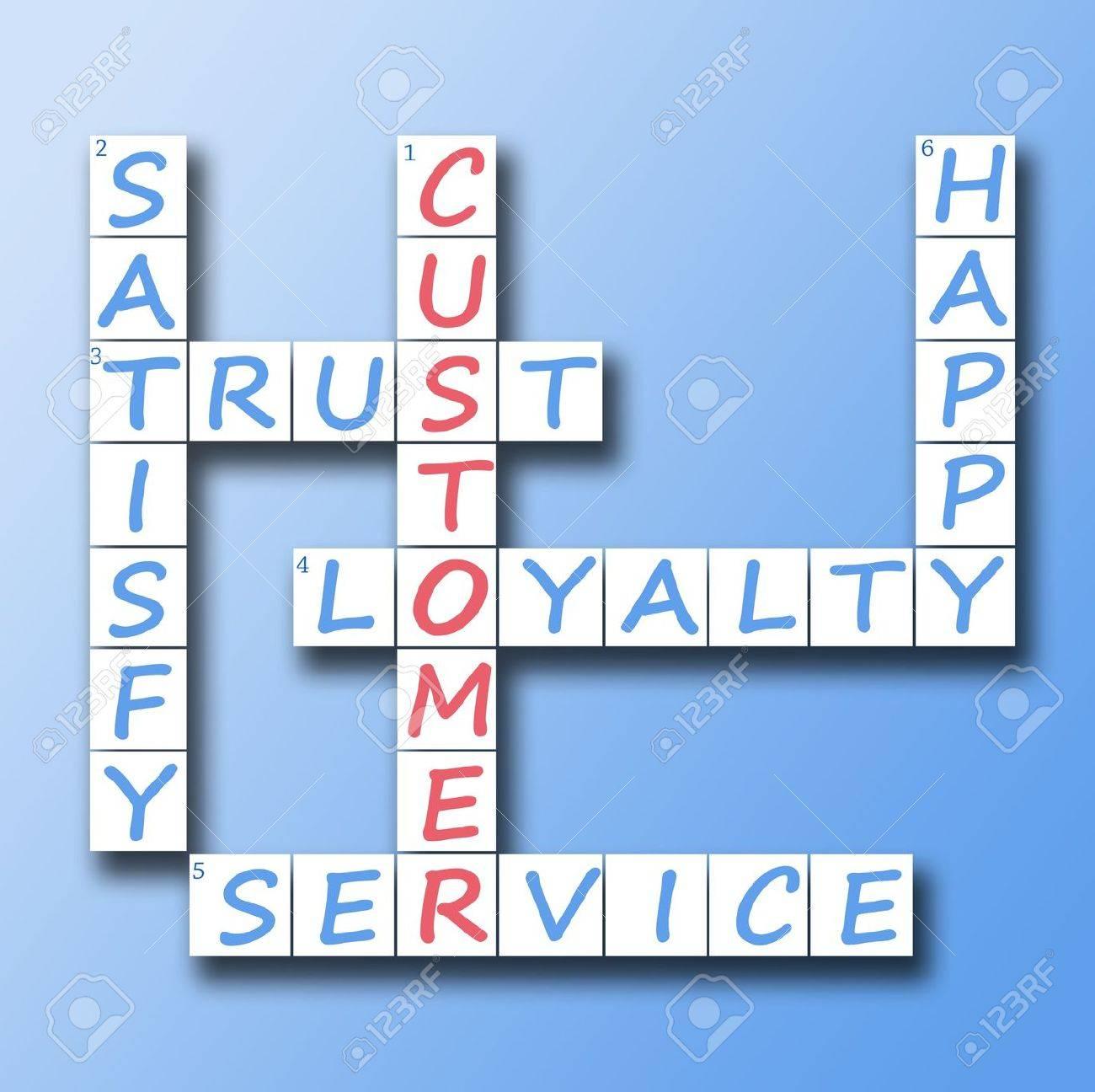 Customer red word on crossword Stock Photo - 10063621