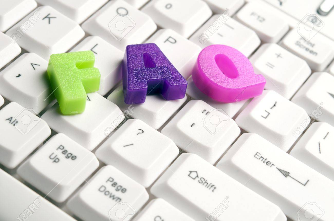 FAQ word made by colorful letters on keyboard Stock Photo - 11529040