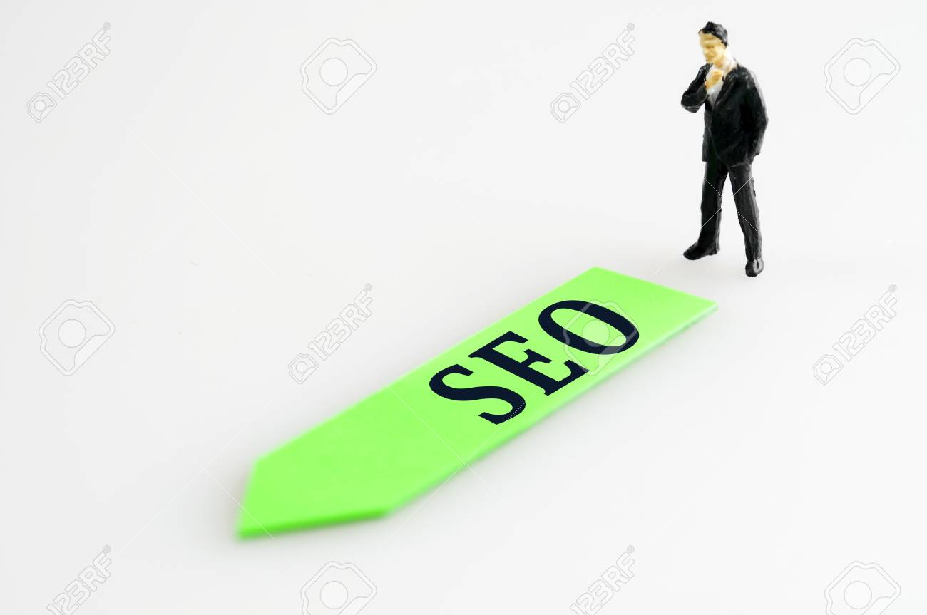 SEO direction and toy business man Stock Photo - 11615292