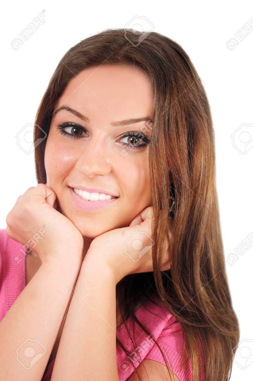 Isolated young casual woman playful Stock Photo - 16009743