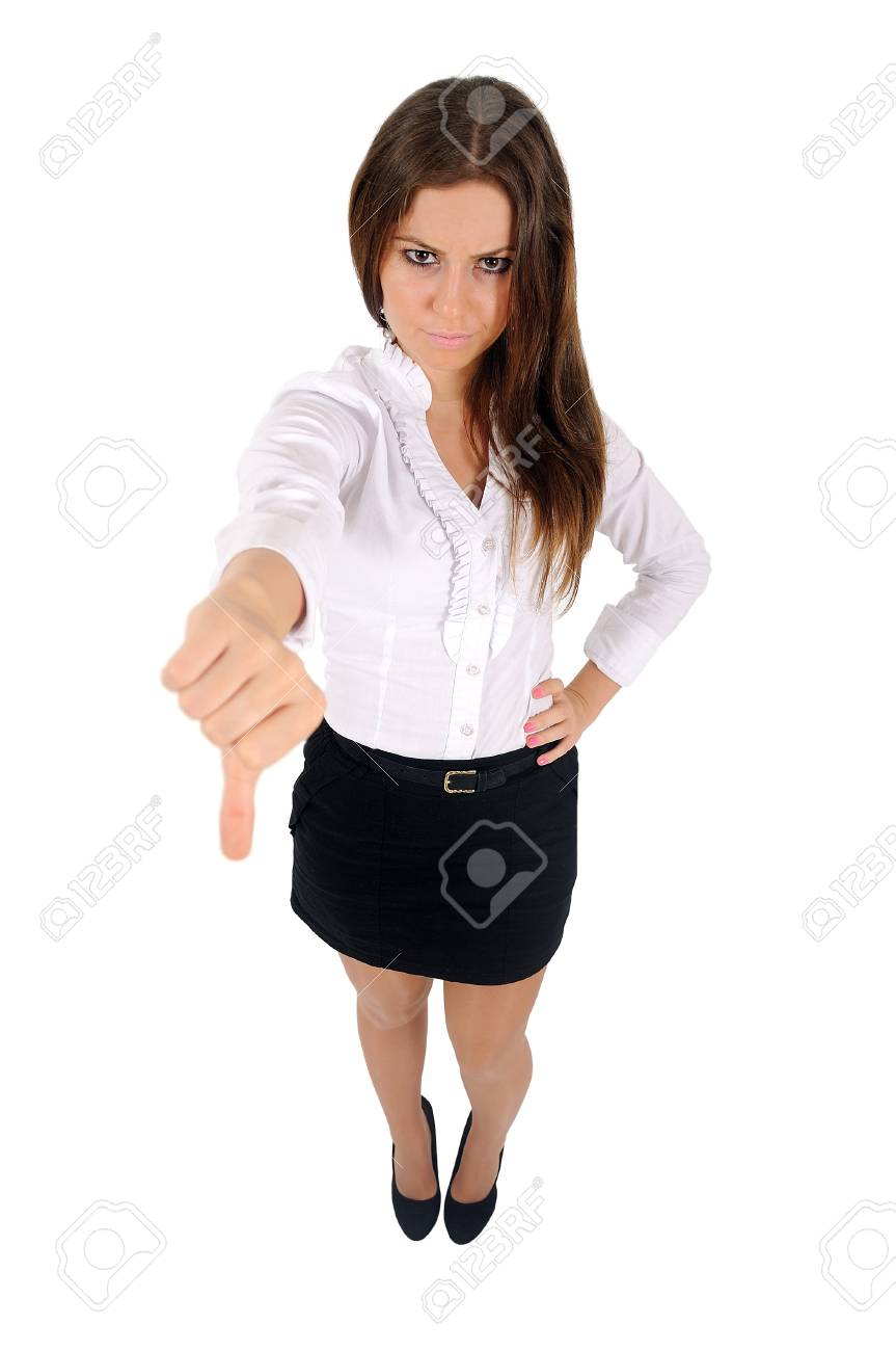 Isolated young business woman reject Stock Photo - 16010007