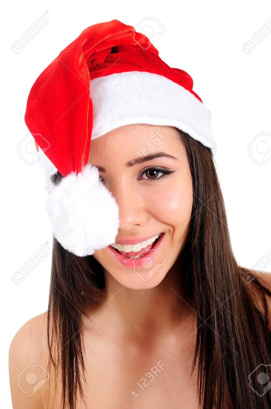 Isolated Young Christmas Girl Happy Stock Photo - 16480944