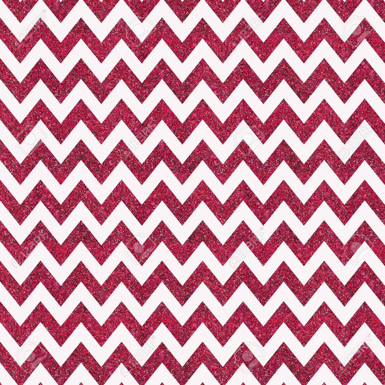 Chevron print background - Pattern With Red Glitter Textured Chevron Print On White Background Stock Photo 52235276