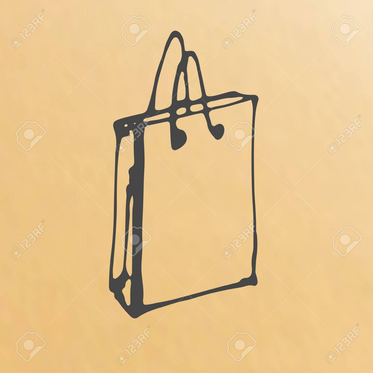Paper bag sketch - Vector Paper Bag Sketch Packing