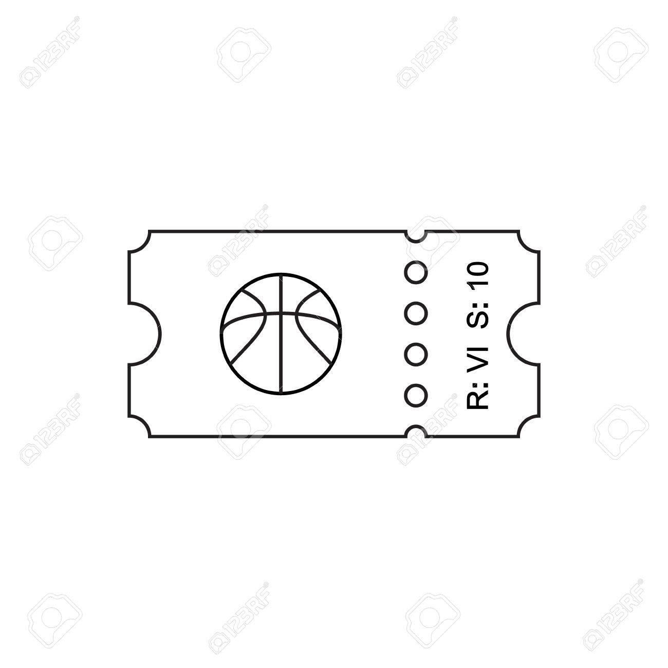 illustration ticket icon in the outline style ticket stub isolated on a background retro cinema tickets tickets concept icon movie ticket icon