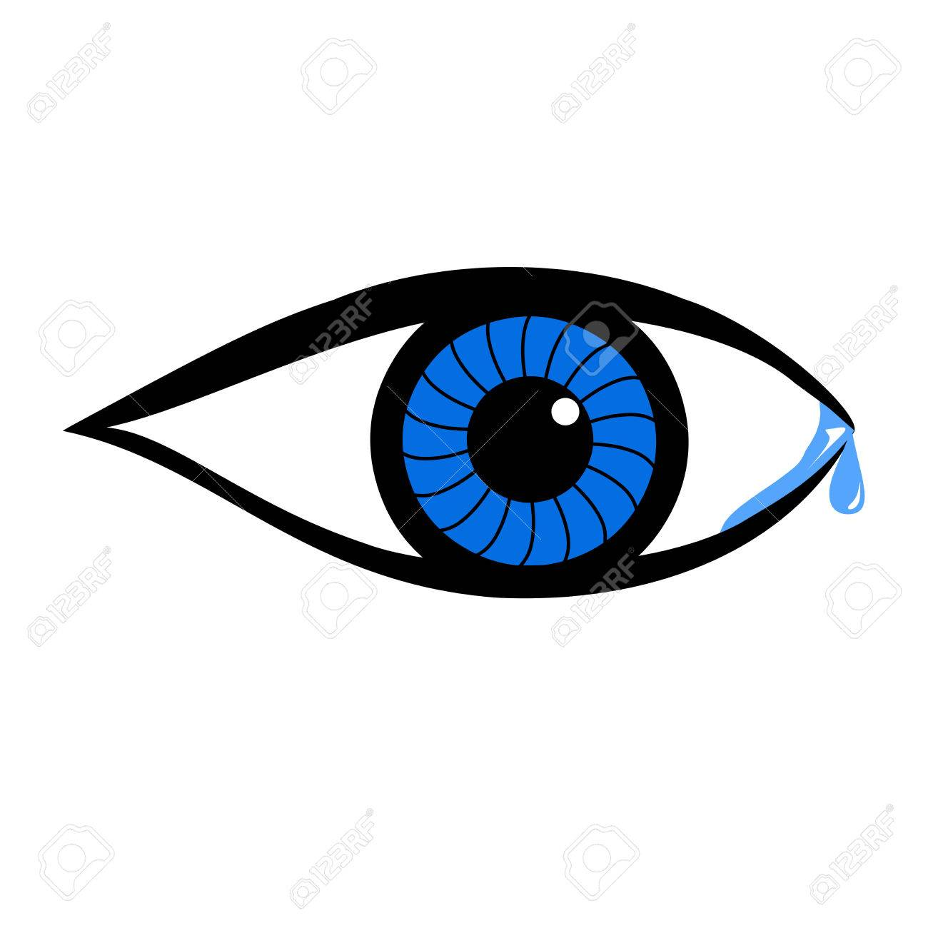 Crying Eye With Tears Royalty Free Cliparts, Vectors, And Stock ...