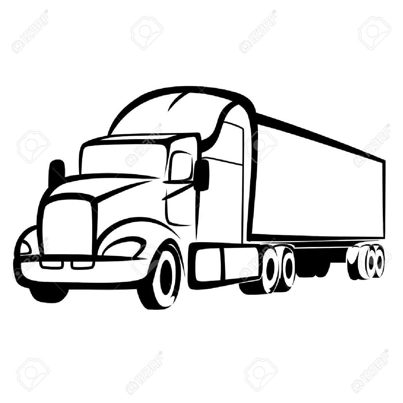 5 430 semi truck stock illustrations cliparts and royalty free semi rh 123rf com semi truck clip art for job postings semi truck clipart free