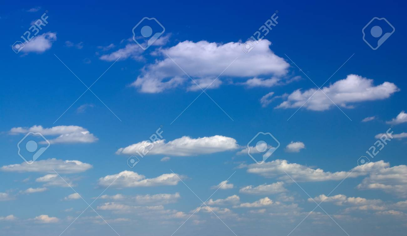Sky full of small clouds - bright natural texture Stock Photo - 1412570