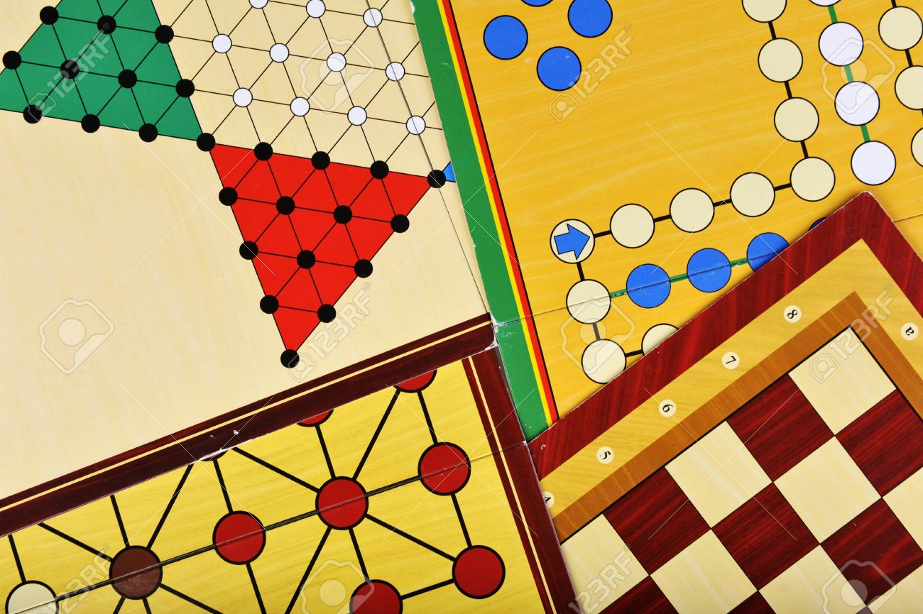 Various board games of ludo, halma, chess and fox and geese Stock Photo - 12868885