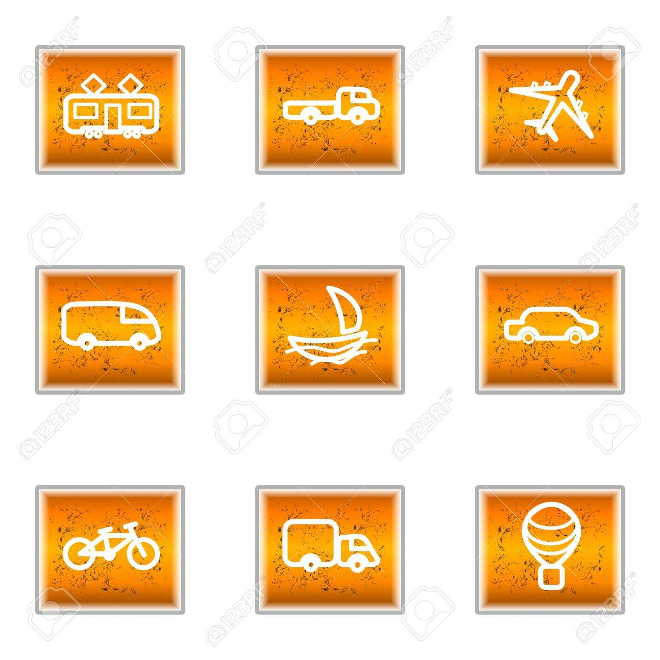Set of 9 glossy web icons (set 5). Stock Vector - 16241268