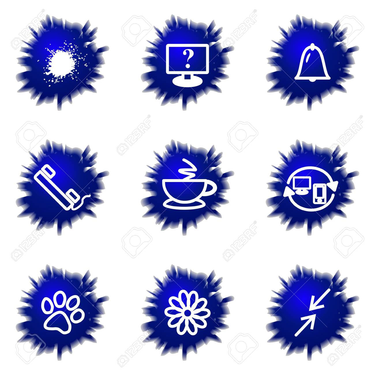 Set of 9 glossy web icons (set 26). Stock Vector - 16710911