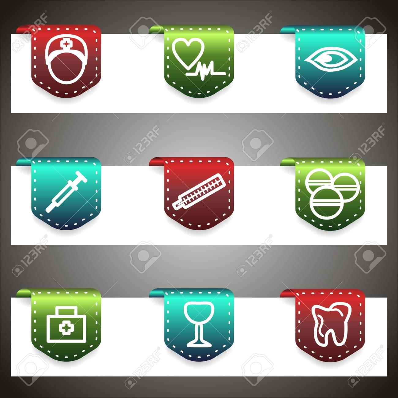 Color  icons set.  navigation template (set 6). Stock Vector - 16876402