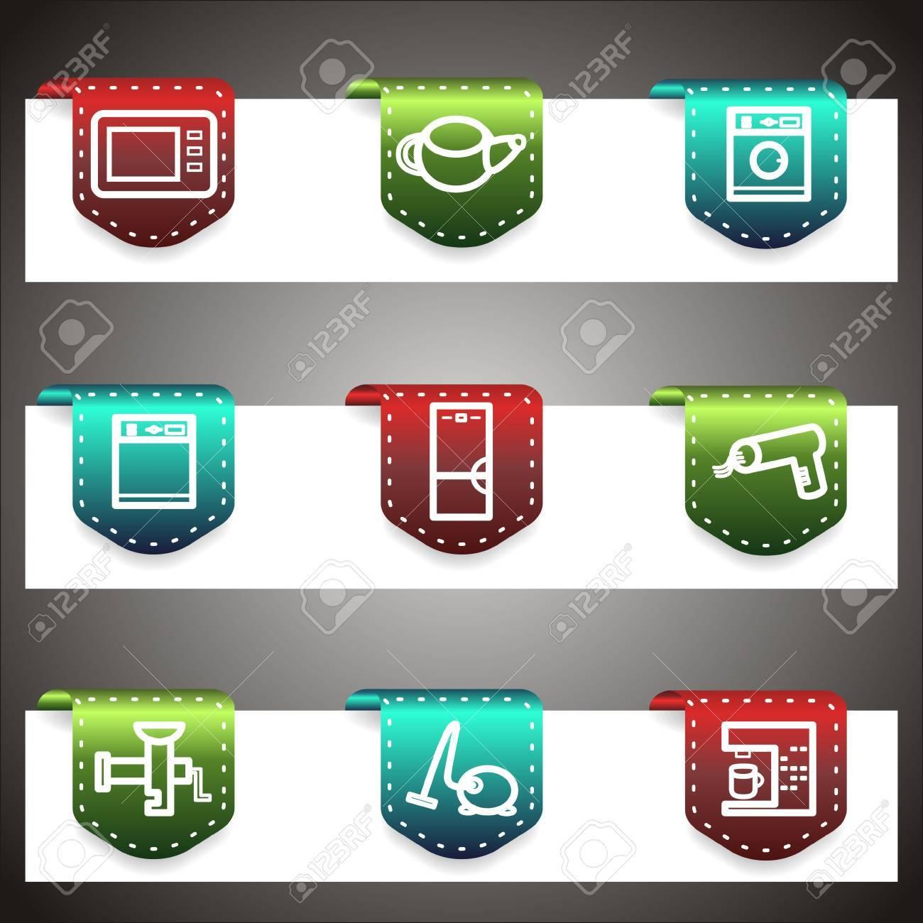 Color  icons set.  navigation template (set 32). Stock Vector - 16876450