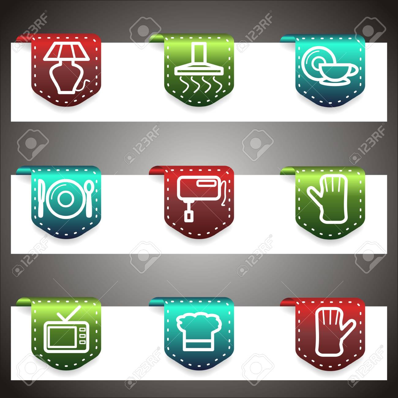 Color  icons set.  navigation template (set 33). Stock Vector - 16876456