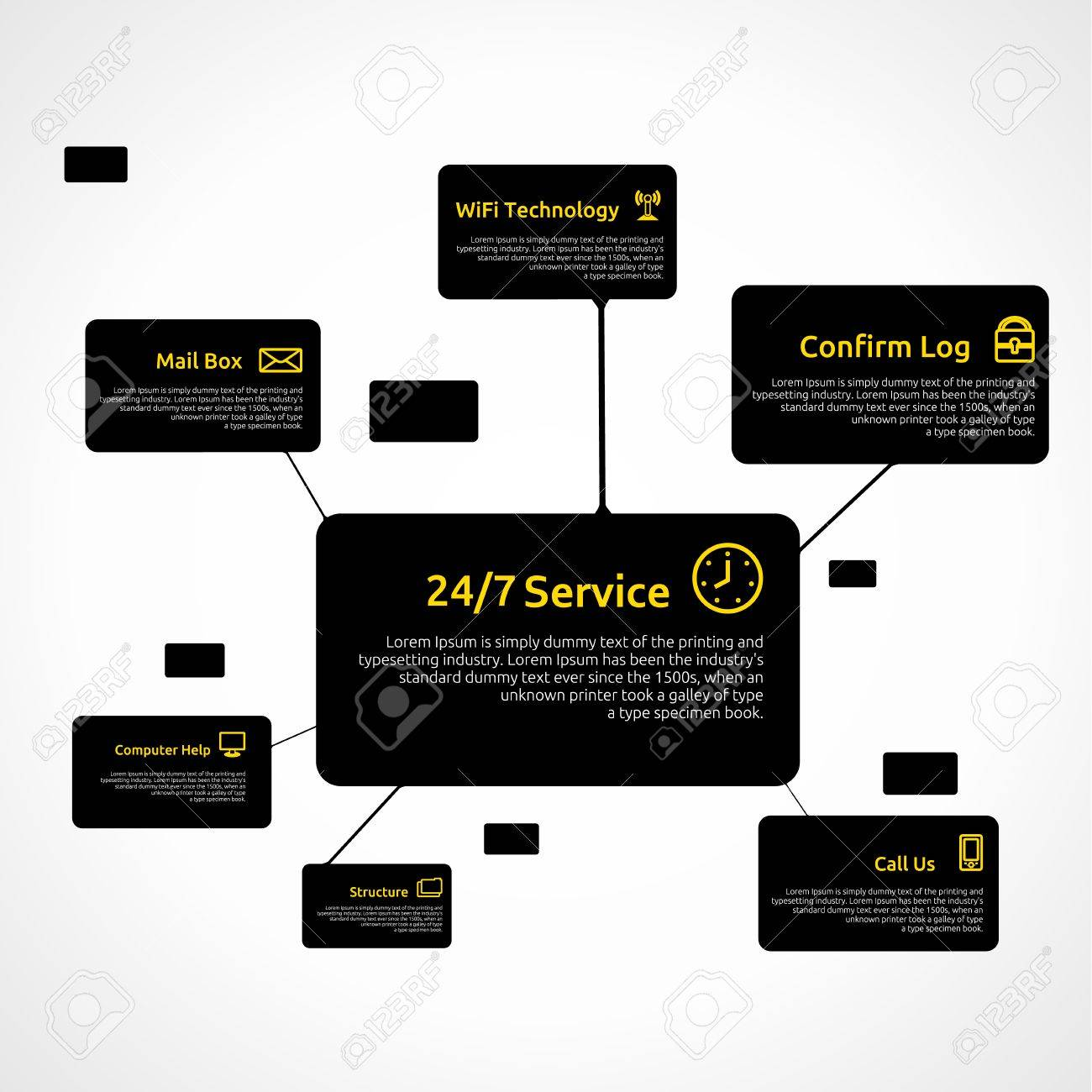 Infographic Template. Business Telecommunication Technology. Clean Background. Stock Vector - 16876896