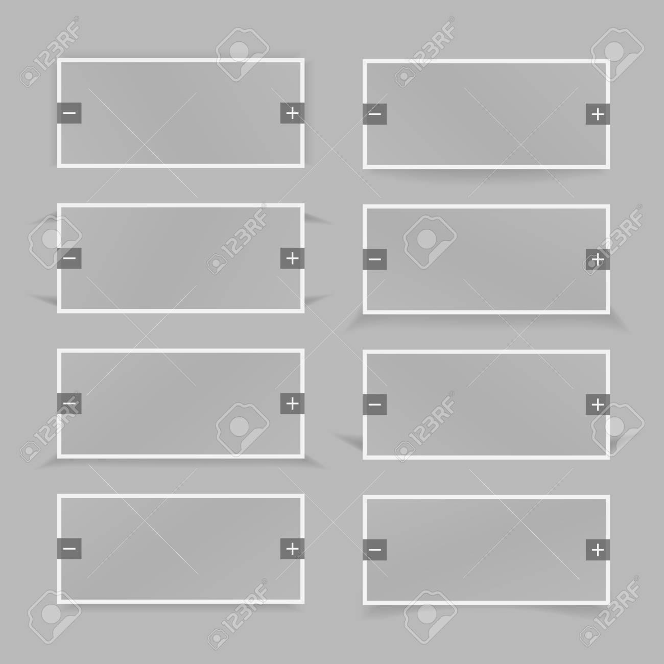 Image Slider. Vector Banner Shadow. Gray color. Stock Vector - 16917036