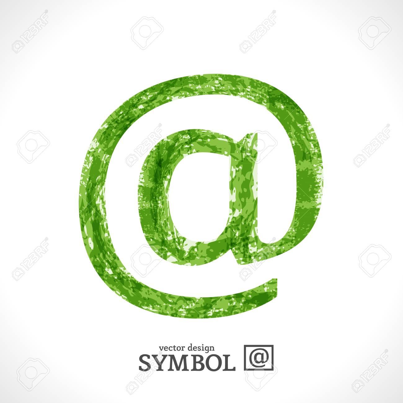 Grunge Symbol. Green Eco Style. @. Stock Vector - 17585045