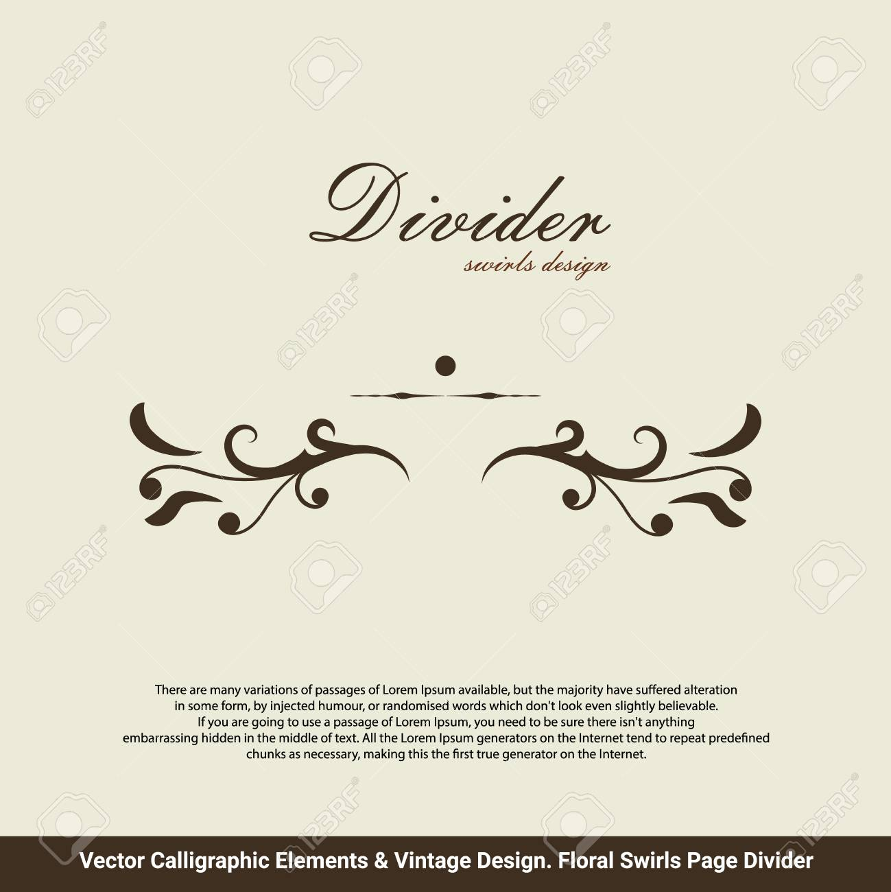 Victorian Grunge Calligraphic. Wedding Invitations. Vector Frame ...