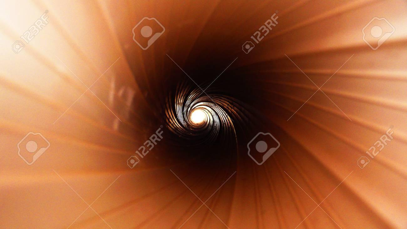 Tunnel Solare A Parete la parete del tubo è a spirale - il vortice della vita - un futuro brillante