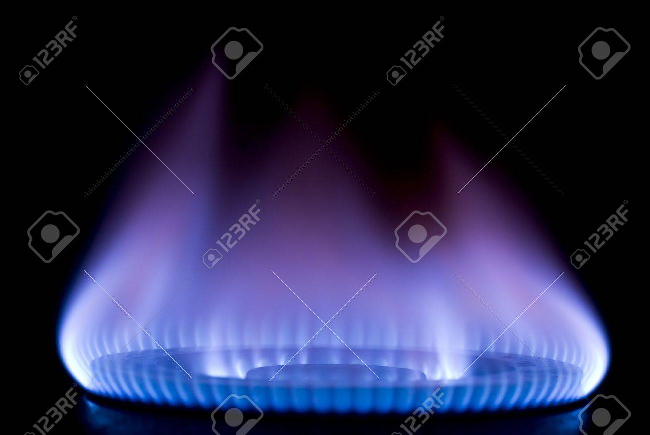 burning on a gas stove in the kitchen Stock Photo - 11509220