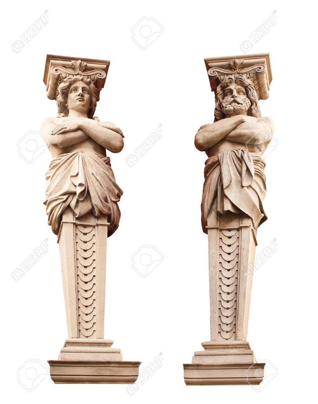 ATLANTA and Caryatid. Sculptural group. Stock Photo - 6177152