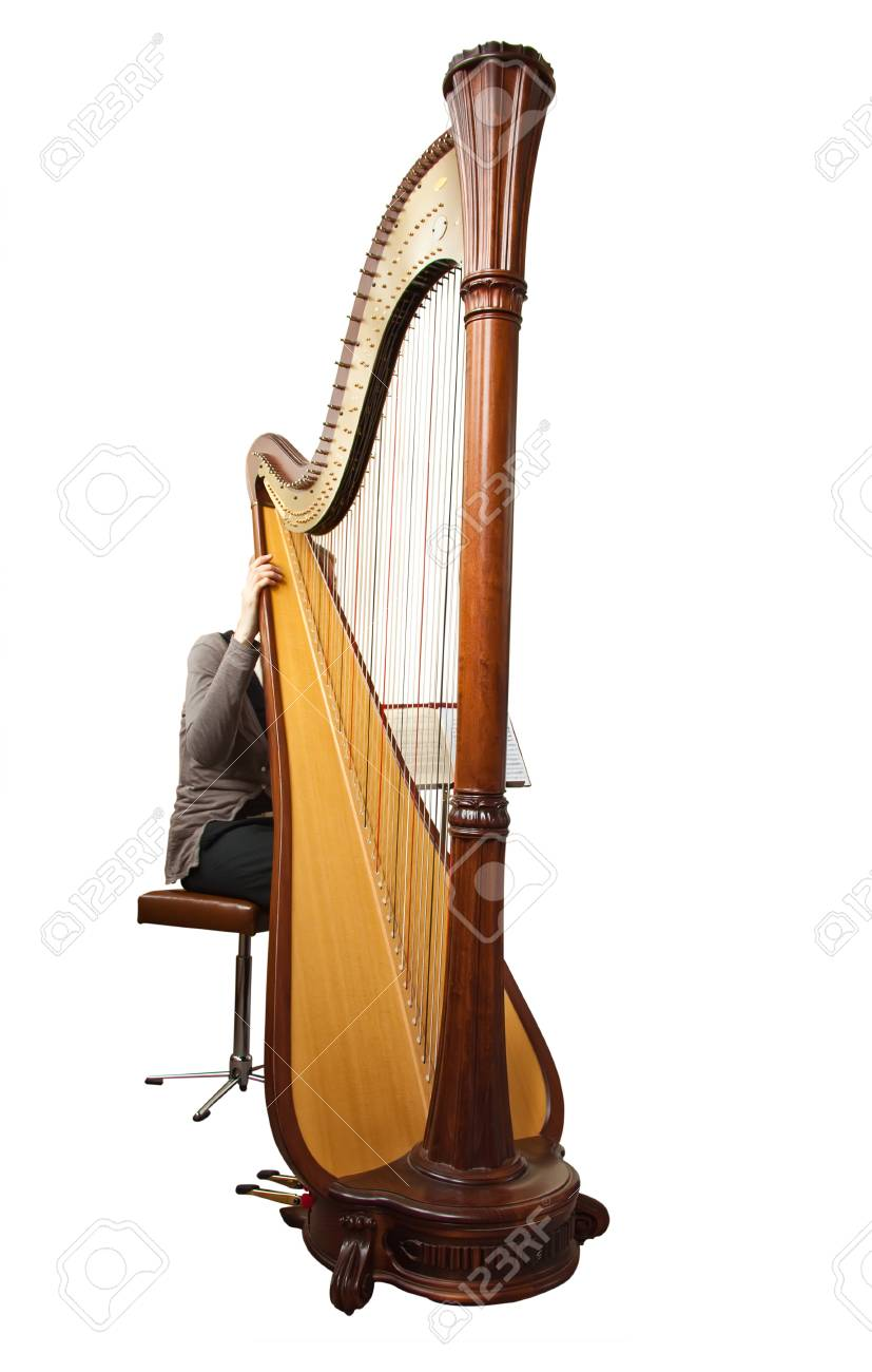 Harp, isolated on a white background Stock Photo - 6912778