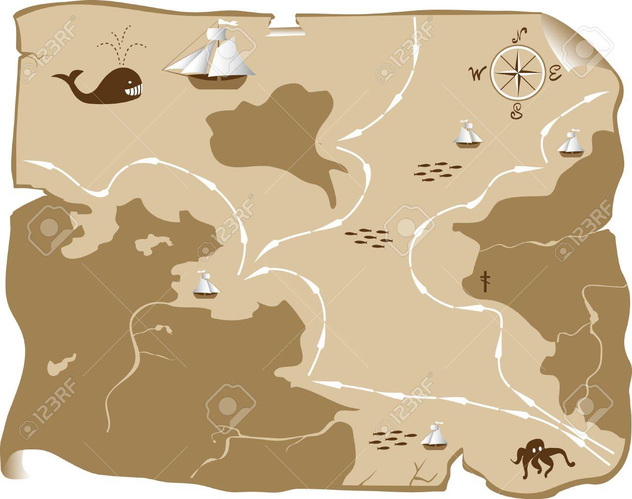 Abstract map Stock Vector - 8193200