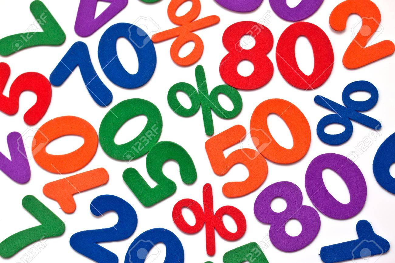 Background of numbers and mathematical symbols Stock Photo - 9072447