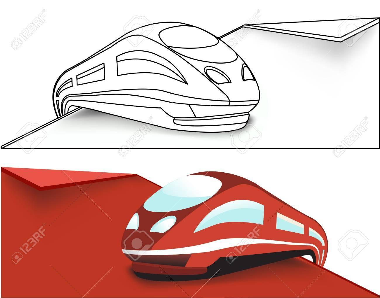 High-speed train Stock Vector - 13231565